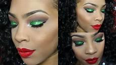 makeup christmas makeup look glitter lip
