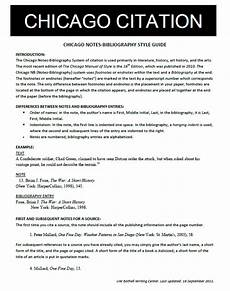 Chicago Essay Example Chicago Style Bibliography Format Apa Mla Chicago