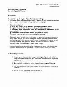 Response To Literature Essay Example Literary Response Essay Assignment
