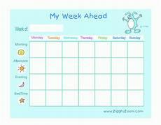 Printable Days Of The Week Chart My Week Ahead Printable Chart