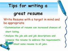 Tips For Resume Writing Effective Resume Writing