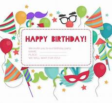 Making Invitations Online For Free Free 25 Printable Birthday Invitation Designs In Psd Ai