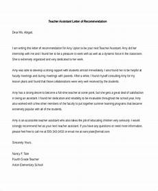 College Letter Of Recommendation From Teacher Free 7 Sample Teacher Recommendation Letters In Pdf Ms Word