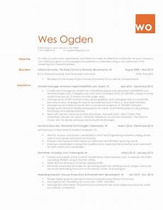 Resume Atlanta Wes Ogden Resume Atlanta