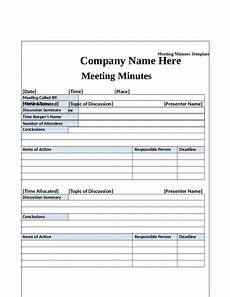Meeting Minutes Templates Word 2020 Meeting Minutes Template Fillable Printable Pdf