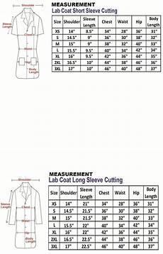 Cintas Lab Coat Size Chart Female Lab Coat Measurement Table With Images Lab Coat