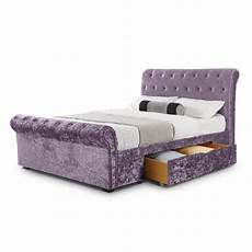 king size verona 2 drawer storage bed silver or lilac crush