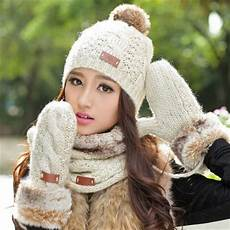 Designer Hat And Scarf Set Women S Autumn And Winter Thermal Knitted Set Women S Knitted Hat