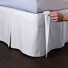 ashton detachable bedskirt king size white