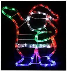 Outdoor Multi Coloured Rope Lights 37cm Multi Coloured Led Waving Santa Rope Light In