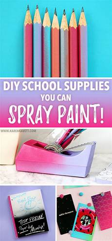 diy school supplies you can spray paint back to school