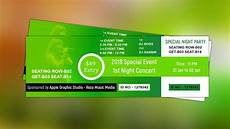 Design Event Tickets Online How To Create Event Ticket Design Photoshop Tutorial