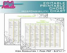 Free Editable Chore Chart Template Editable Printable Chore Chart Responsibility Chart