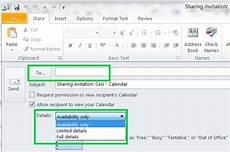 Share Calendar Outlook Share A Microsoft Exchange 2010 Calendar Using Outlook 2010