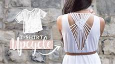 diy clothes t shirt upcycle with macrame