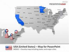 united states powerpoint map powerpoint map united states usa presentationload