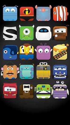 Pixar Iphone Wallpaper by Disney Characters Icon Frame Iphone 5 Wallpaper