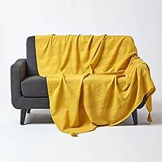 homescapes rajput ribbed throw 60 x 80 inches plain yellow