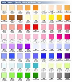 Rosco Color Chart Rosco Cinegel Color Correction Decorative Items System