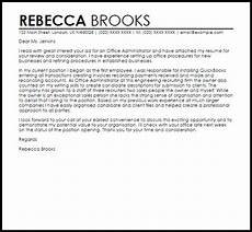Cover Letters Administration Office Administrator Cover Letter Sample Cover Letter