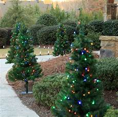 Battery Outside Christmas Tree Lights Outdoor Decorations 2 Walkway Pre Lit Winchester Fir