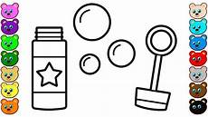 Coloring Pages Bubbles Coloring For Kids With Soap Bubble Toy Coloring Pages