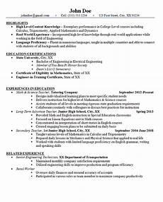 High School Teaching Resume Junior High School Teacher Resume Example Math And Science