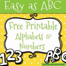 Alphabet Letters Printable Free Printable Letters And Numbers For Crafts