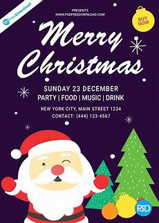Christmas Poster Templates Christmas Flyer Template Design Psd Free Download