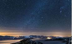 space landscape wallpaper 4k nature mountain galaxy landscape fog ultrahd