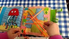 ladario fai da te bambini libri sensoriali in tessuto book parte 1