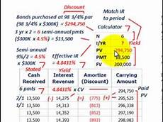 Amortization Of Bond Premiums Bond Amortization Calculating Yield Amortizing Discount