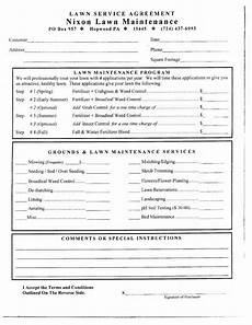 Lawn Care Contracts Samples Free Printable Lawn Care Contract Form Generic