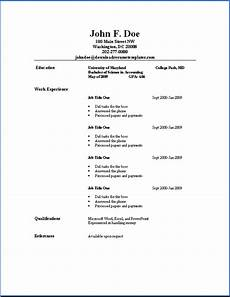 How To Make A Simple Cv Sample Of Simple Resume Sample Resumes
