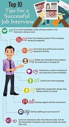 Tip For Job Interview Infographic Infographic Top 10 Tips For A Successful