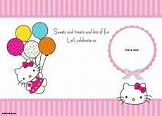 Hello Kitty Birthday Template Personalized Hello Kitty Birthday Invitations
