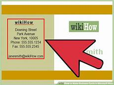 Business Cards In Word How To Make Business Cards In Microsoft Word With Pictures