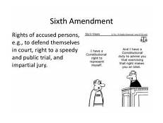 Constitutional Protections For Persons Accused Of Crime Chart Sixth Amendment Rights Of Accused Persons Stu S Views Eg