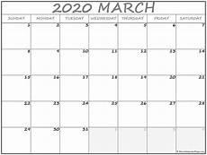 March 2020 Calendar Printable March 2020 Calendar Free Printable Monthly Calendars