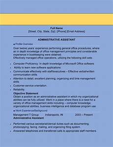 Resume Templates For Administrative Assistant 20 Free Administrative Assistant Resume Samples ᐅ Templatelab