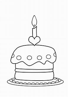 birthday cake coloring page birthday coloring