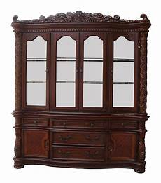vendome traditional carved floral china cabinet in
