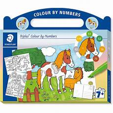 Mytoys Malvorlagen Xl Malset Triplus Colour By Numbers Pferde Inkl Stifte 13