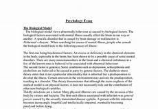 Writing A Psychology Essay Psychology Essay The Biological Model The Biological Model
