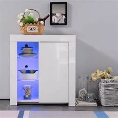Lancashire Furniture White Cupboard With Led Lights And White by Sideboard Cabinet High Gloss Cupboard Buffet Storage