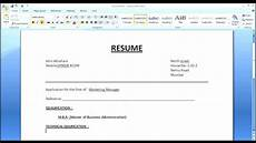 Create A Simple Resume How To Make A Simple Resume Cover Letter With Resume