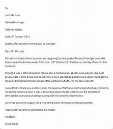 Professional Resignation Free 7 Professional Resignation Letter Templates In Pdf