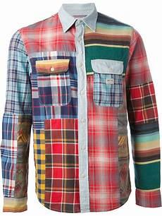 patchwork shirt lyst ralph patchwork shirt for