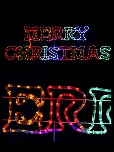 Rope Light Christmas Signs Multi Colour Merry Christmas Led Rope Light Silhouette 1