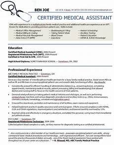 Medical Assistant Job Description For Resume Medical Assistant Resume Template Free Samples Formats